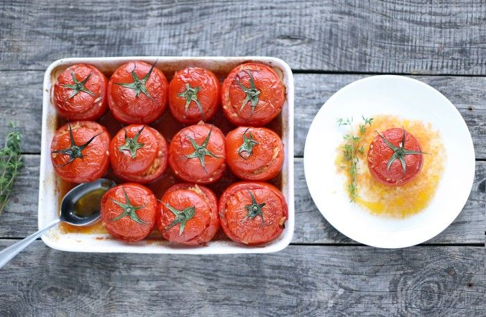FILLED TOMATOES A LA OLIVE OIL