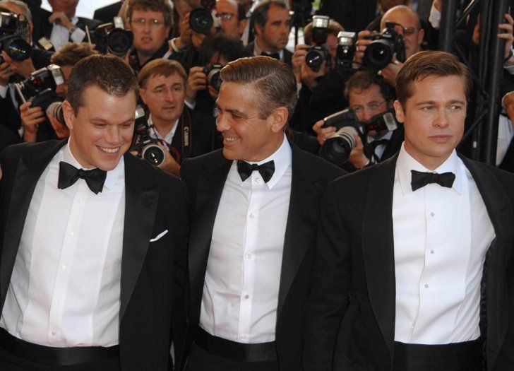 Pin for Later: The Most Glamorous Cannes Film Festival Moments  Matt Damon, George Clooney, and Brad Pitt posed on the Ocean's 13 red carpet in 2007.