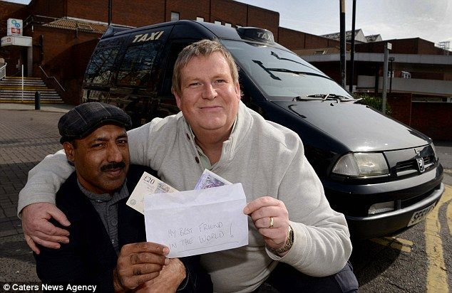 A Muslim taxi driver has set an excellent example of honesty after returning a bag a passenger left on the back seat of his car containing £10,000 in cash.