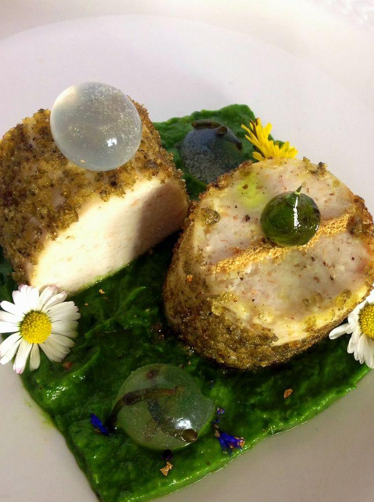 Lovely Cake: Primavera in anticipo Boudin Blanc su Crema di Edamame, perle di mare ed olio Croccante Cucina molecolare