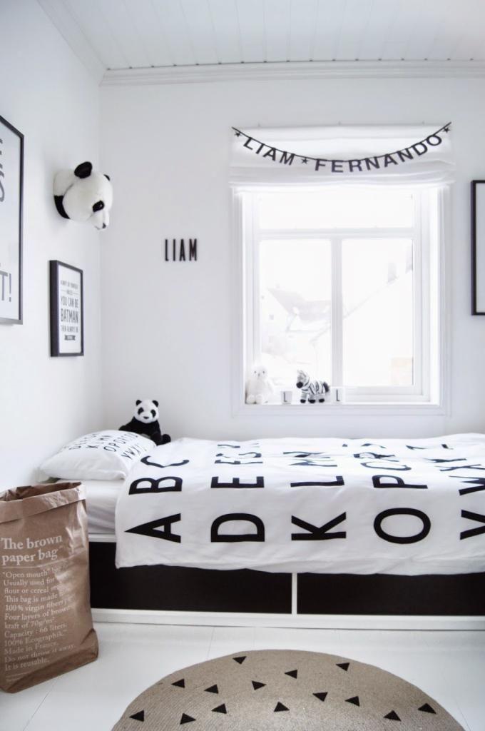 Mitt Lille Hjerte Black and White children's bedroom