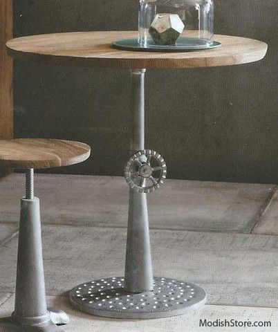 roost industry cafe table amazoncom furniture 62quot industrial wood