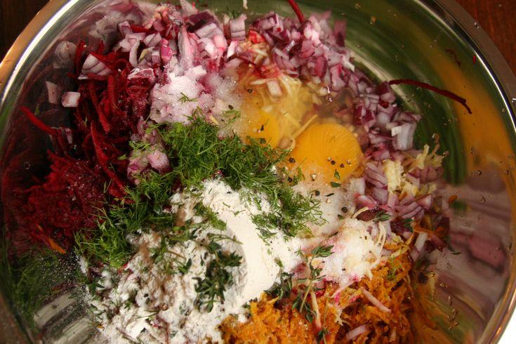 Root Vegetable Latkes with Lemon-Saffron Yogurt! #hannukah, #chanukah ...