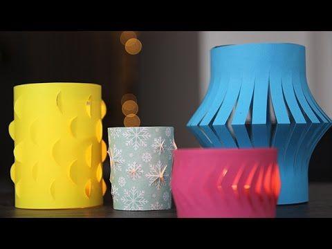 Waxinelichthouders maken met papier! DIY - Makkelijk - Budget - snel - YouTube