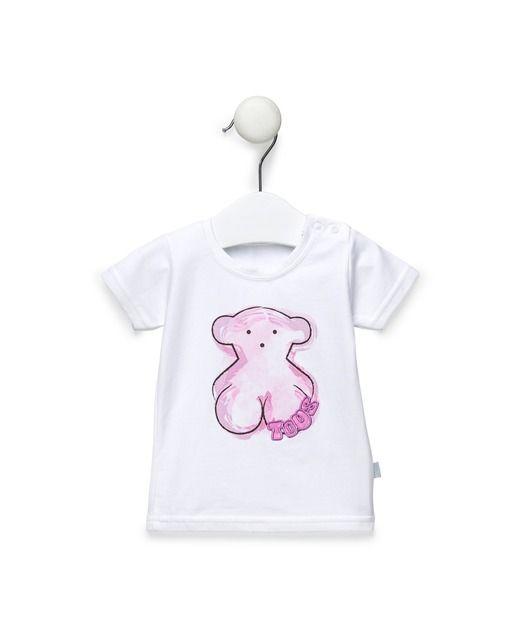 aa6ae3ca8 Camiseta de bebé niña Tous Baby de playa oso estampado en rosa · Moda · El