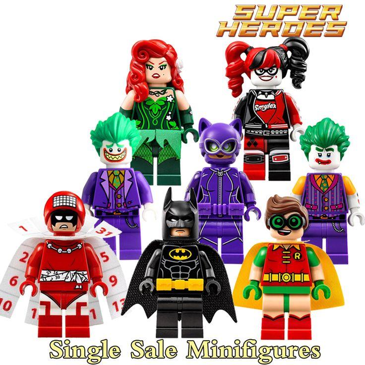 ビルディングブロックジョーカープラスポイズンアイビーセクシーバットマンロビンカレンダーの人々ハーレークインキャットウーマンdiyフィギュア子供diy知育玩具