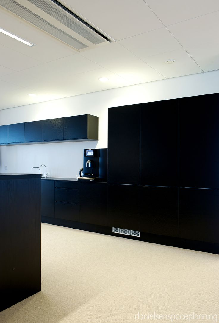 Kitchenette - Spies' office in Copenhagen. Spaceplanning and interior design by Danielsen Spaceplanning.