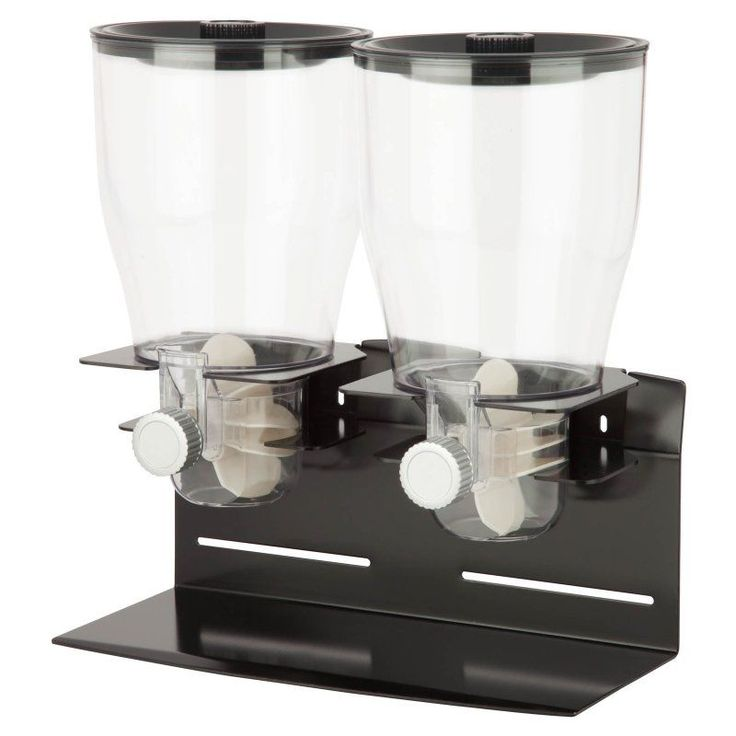 Honey Can Do Commercial Plus Double Canister Dispenser Black/Chrome - KCH-06148