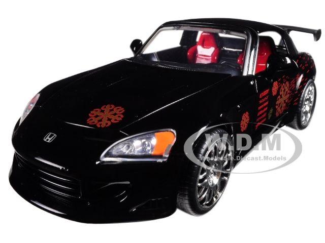 "Johnny's 2001 Honda S2000 Black ""Fast & Furious"" Movie 1/24 Diecast Model Car by Jada"