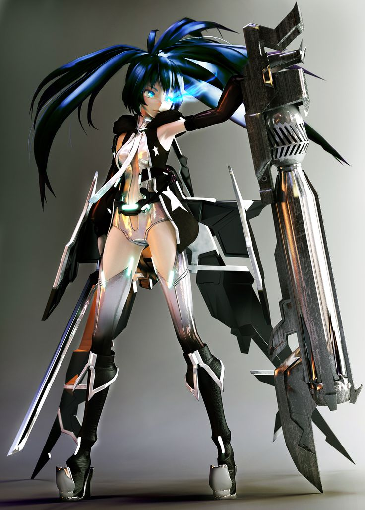 Miku Hatsune Append (Black Rock Shooter) by tetsuok9999.deviantart.com