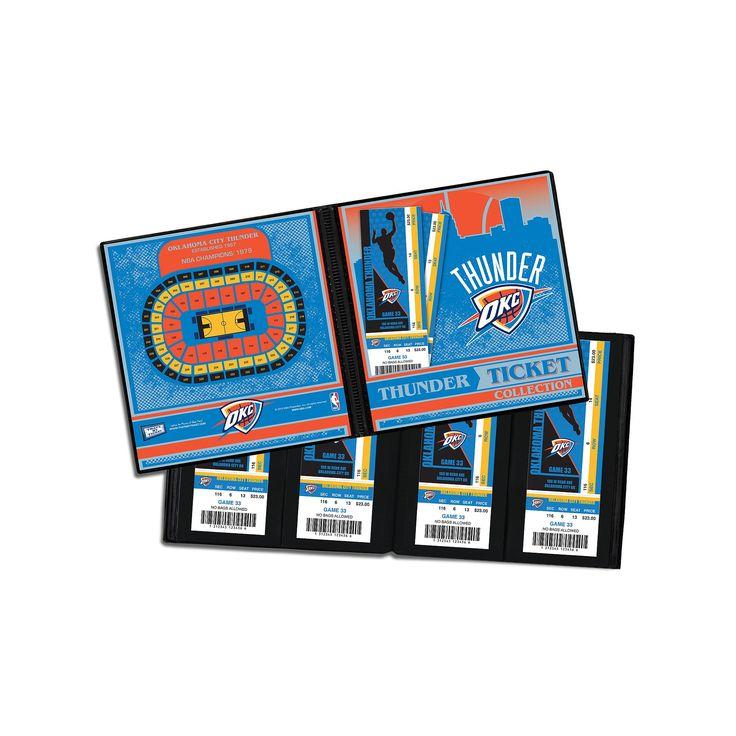 Oklahoma City Thunder Ticket Album, Multicolor
