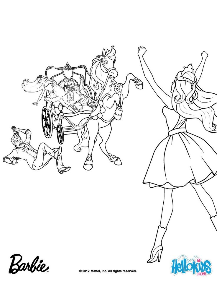 Toris Loyal Horse Barbie Coloring Page More The Princess Popstar Pages
