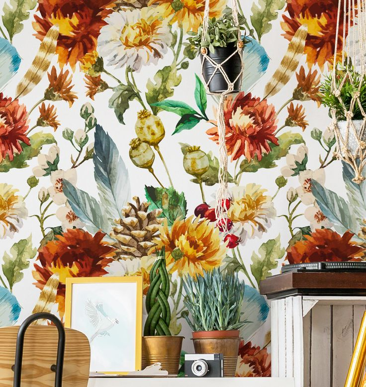 Removable Wallpaper //Peel & Stick // Repositionable //