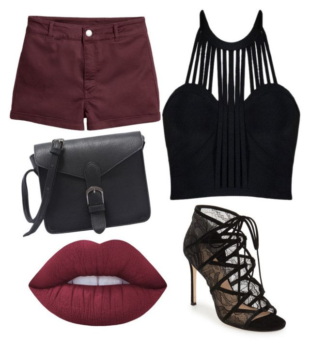 """""""BlackNRed"""" by tovenilsen on Polyvore featuring Posh Girl, Pour La Victoire and Lime Crime"""