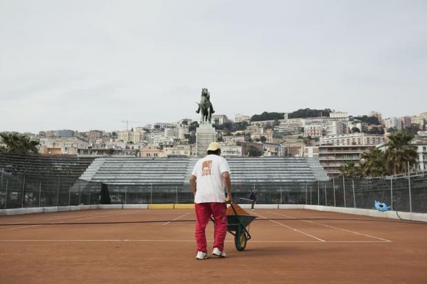 Lavori in corso per la Coppa Davis  © Machi di Pace - Campania su Web