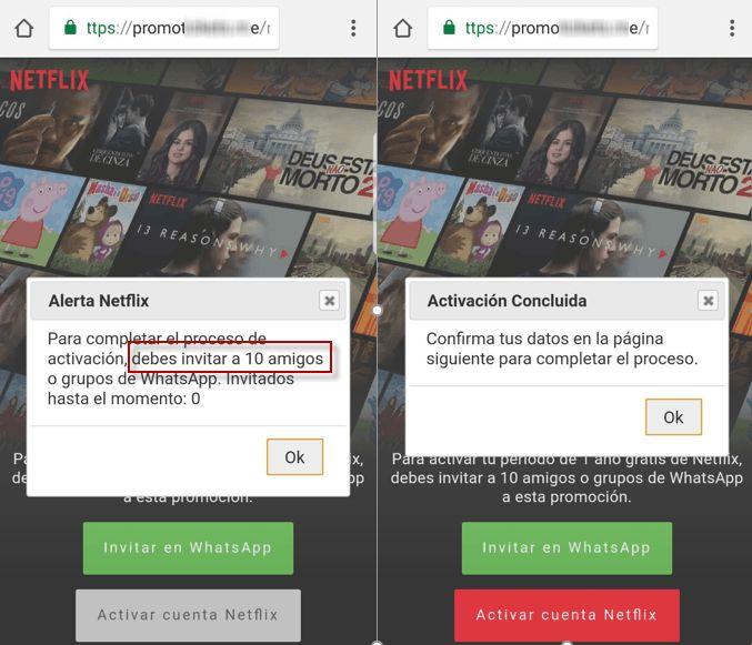 Um ano livre Netflix, novo golpe no WhatsApp: O scam afirma que a Netflix está dando assinatura gratuita de um ano.