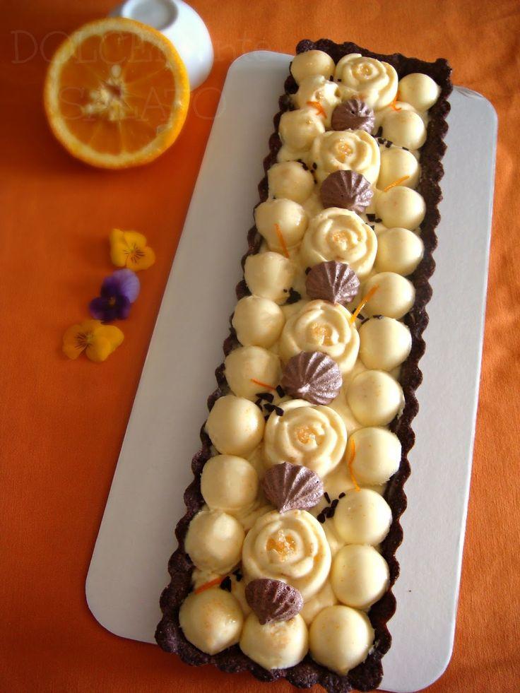DOLCEmente SALATO: Crostata al cacao con namelaka all'arancia