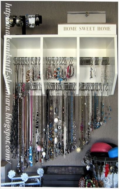 DIY: Jewelry rack. Might be a nice project for you.  I know your mom bought u a standing jewelry box but for the things you wear often thought this might be good.