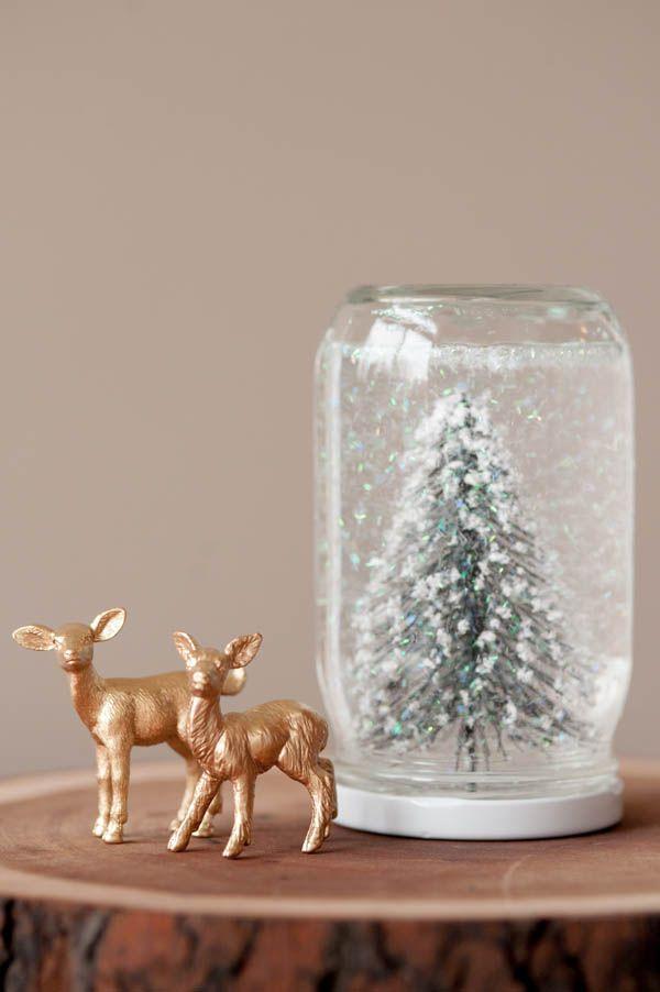 Новогодняя игрушка своими руками — снежный шар