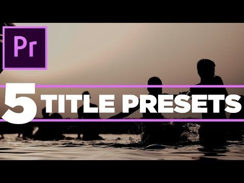 5 Pack Free Modern Clean Title Presets Or Templates For Premiere