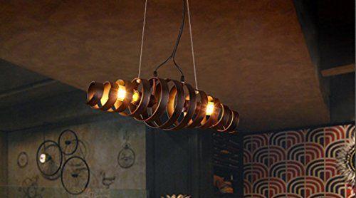 Industrial style restaurant sbarra di ferro lampadario americani