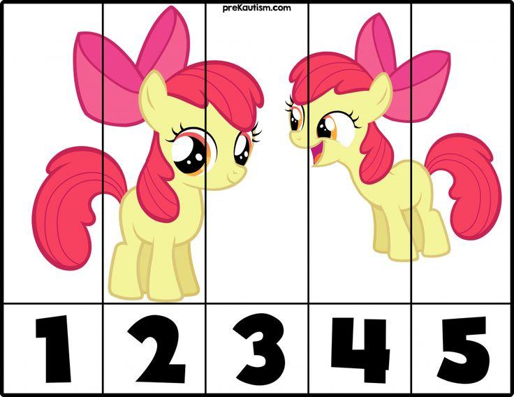 FREE! My Little Pony #1-5 Puzzles - Autism & Education