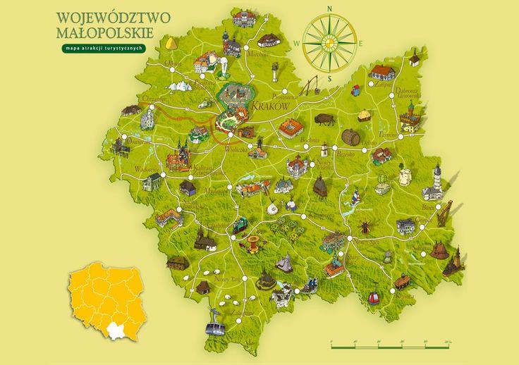 Map of Lesser Poland #polishtrails