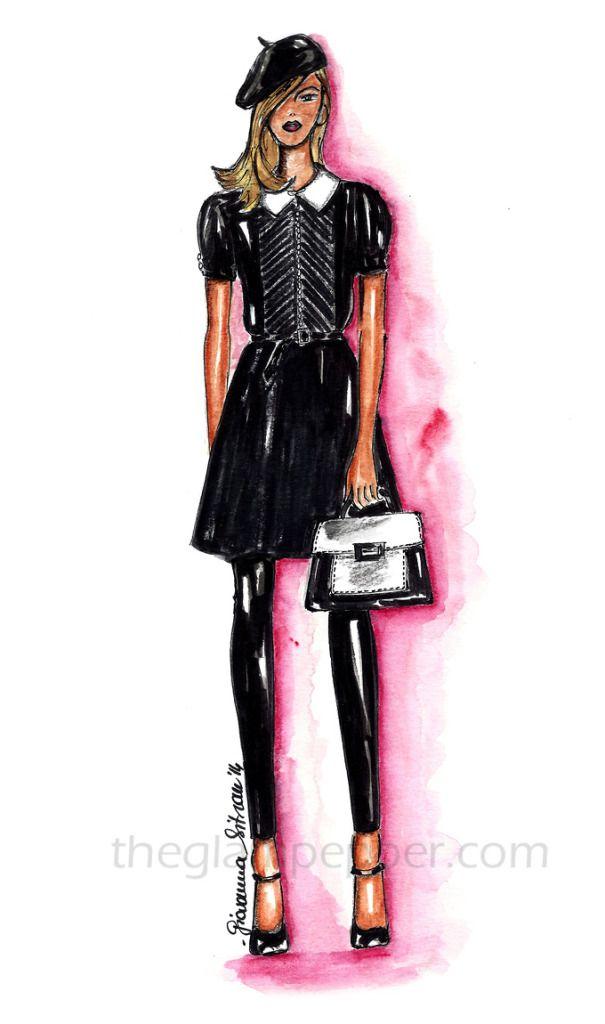Fashion sketch, illustration, draw, drawing, Polo Ralph Lauren