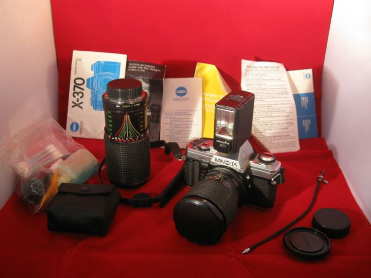 Vintage Minolta X-370 35mm SLR Film Camera Lot with Accessories #minolta #filmphotography #camera #film #lot #vintage #accessories #collectibles #bundle #ebid #ebidlistings