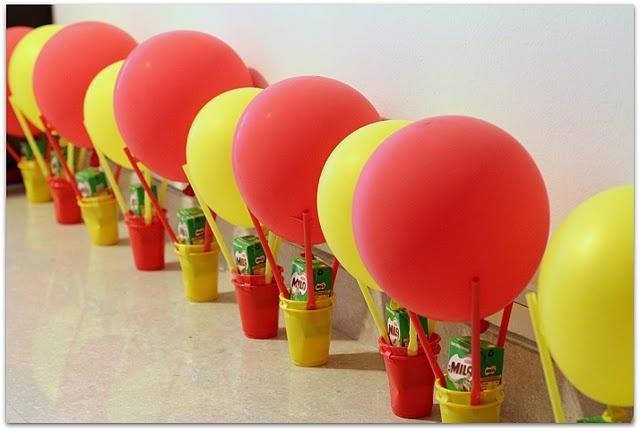 Hot air ballon party favors