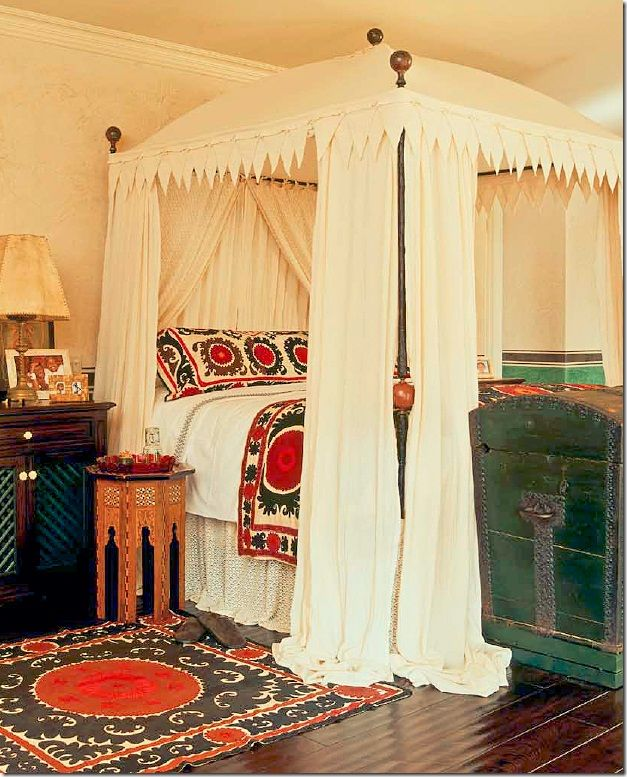 excellent moroccan style comforters ideas canopy bed wooden floor - Yellow Canopy Decor