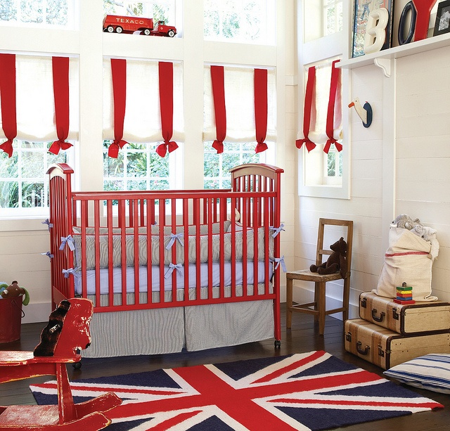 Red, white and blue. Perfect union. Nursery Style by Serena & Lily. #serenaandlily