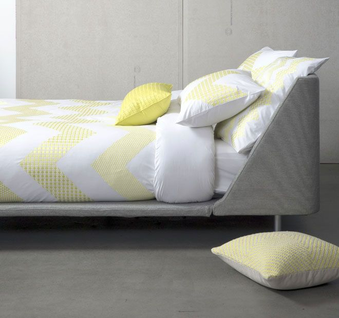 Zig Zag Citrus KAS ROOM  Features: Cotton 250 thread count Embroidered - #quiltcovers