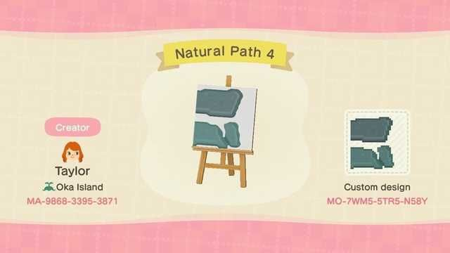 Acnh Natural Ramp Stones Continued Path In 2020 Animal Crossing Game Animal Crossing Animal Crossing Qr