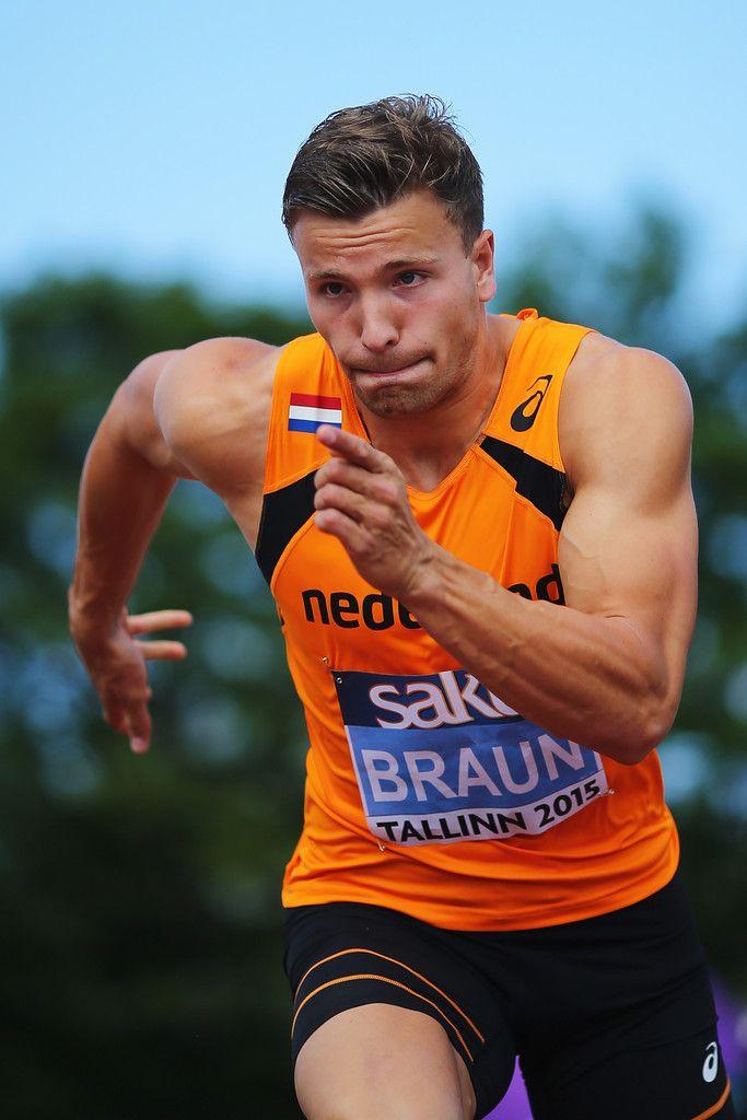 Pieter Braun of Netherlands competes in the Decathlon Long Jump on day three of the European Athletics U23 Championships at Kadriorg Stadium on July 9, 2015 in Tallinn, Estonia.