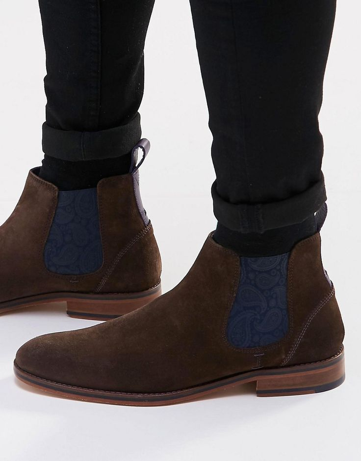 trendy Ted Baker  Camroon Suede Chelsea Boots (Bruin)