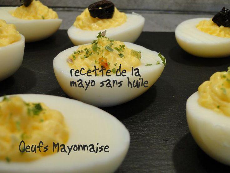 Recette de la mayonnaise sans huile à faire au thermomix : une recette carrément bluffante: tout y est : la texture de la mayo, et même le goût , si si je vous jure, ne dites rien à votre entourage et servez cette mayo. J'ai fais des oeufs mimosa, c'était super bon, si vous êtes …