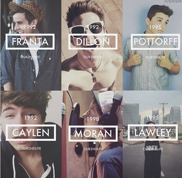 O2L members: Connor Franta, JC Caylen, Ricky Dillon, Sam Potorff, Trevor Moran, and Kian Lawley