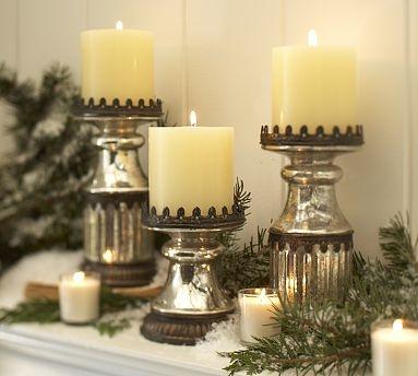 246 best Mercury Glass images on Pinterest | Christmas ideas, Merry ...