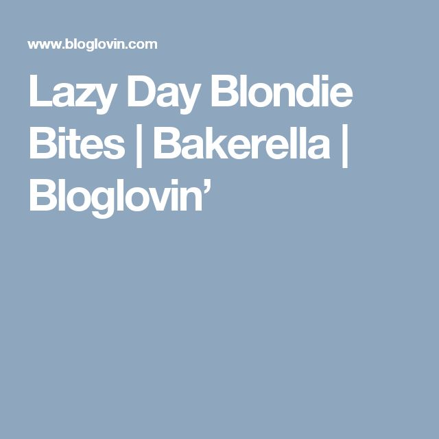 Lazy Day Blondie Bites | Bakerella | Bloglovin'