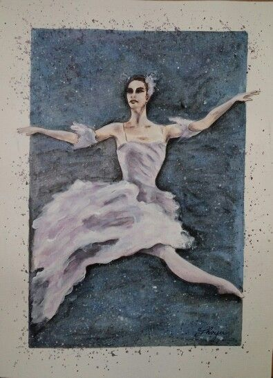 Ballet dancer Watercolour painting by Shoya
