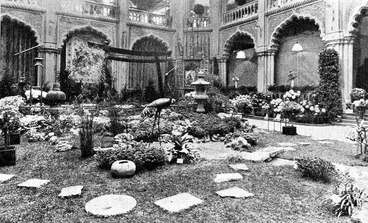 """a kertészképző iskola """"Japáni"""" kertje az 1929. évi kertészeti kiállításon - Iparművészeti Múzeum - Budapest - http://www.vmszki.hu/"""