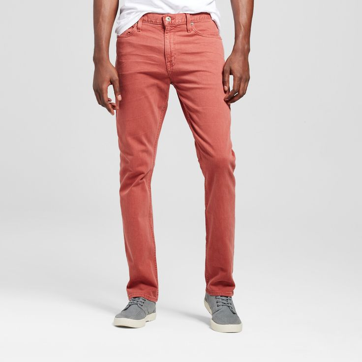 Men's Slim Fit Dye Jeans - Mossimo Supply Co. Red Wash 29x30