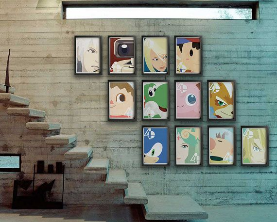 Super Smash Bros 4 Poster                                                       …
