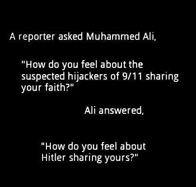 Witty and true. There are extremists in every religion. That doesn't mean they're all that way. via Left Turn Only