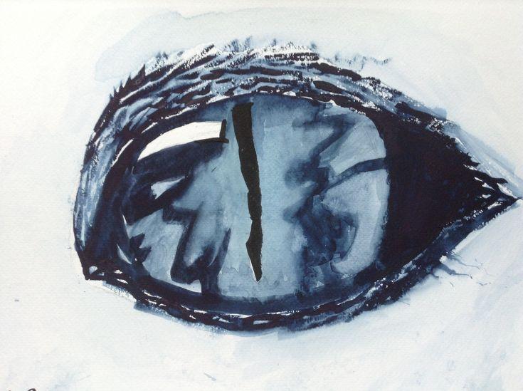 Ice reptilian eye