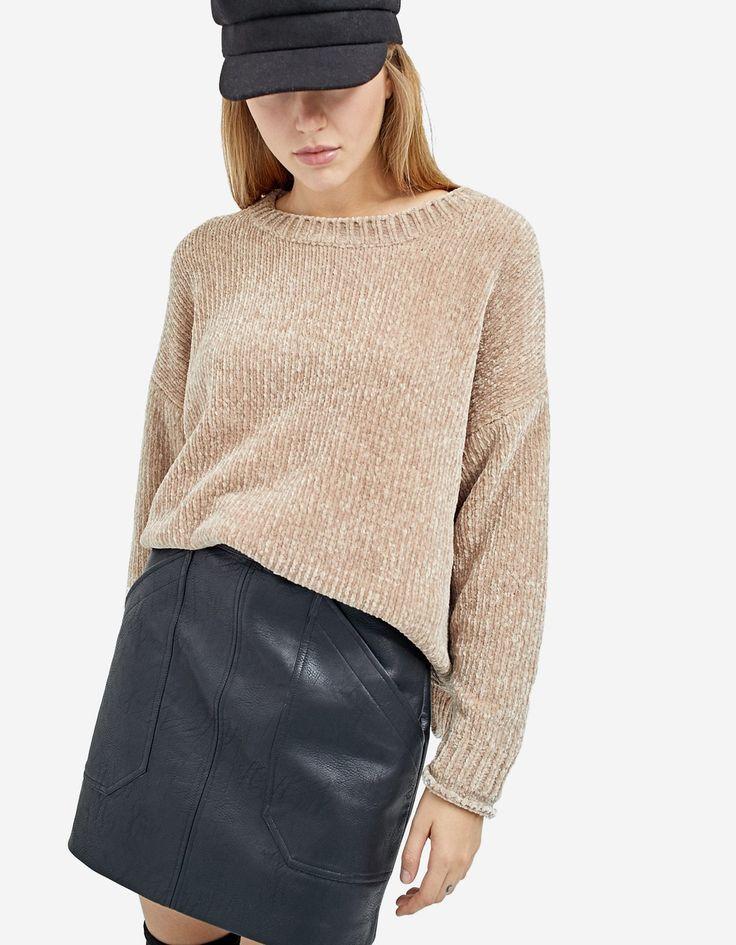 #stradivarius   Chenille sweater