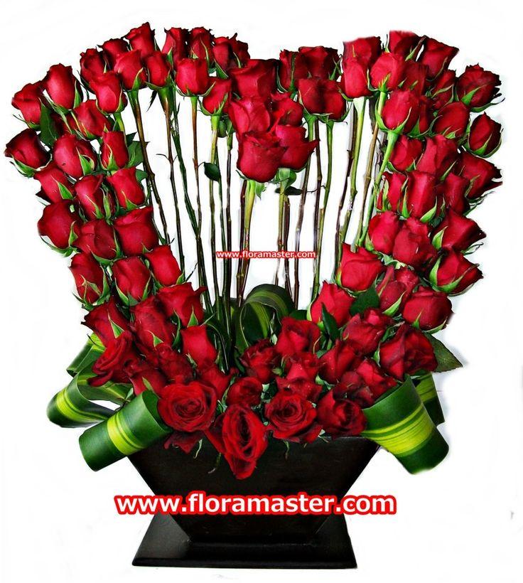 arreglo florale rosas rojas