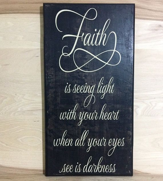 Faith custom wood sign inspirational wall by CraftingWithMyChis