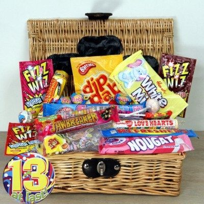 Retro Sweet Hamper with Badge - Perfect Birthday Gift - Birthday Treat for Children and Adults